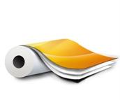 Рулонный материал кашированный с межслойной печатью